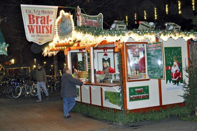 bratwurst, jarmarki świąteczne, Niemcy, Lipsk