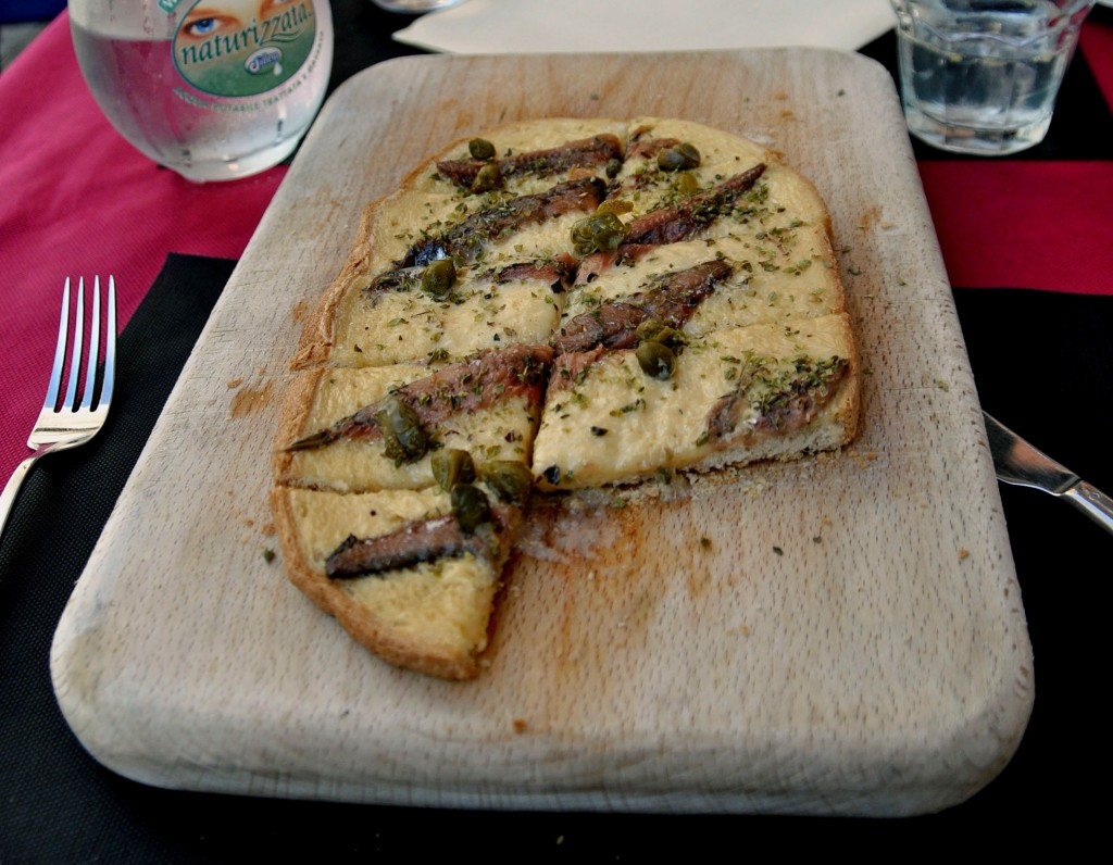 Bruschetta with anchovis and capers — simple and tasty