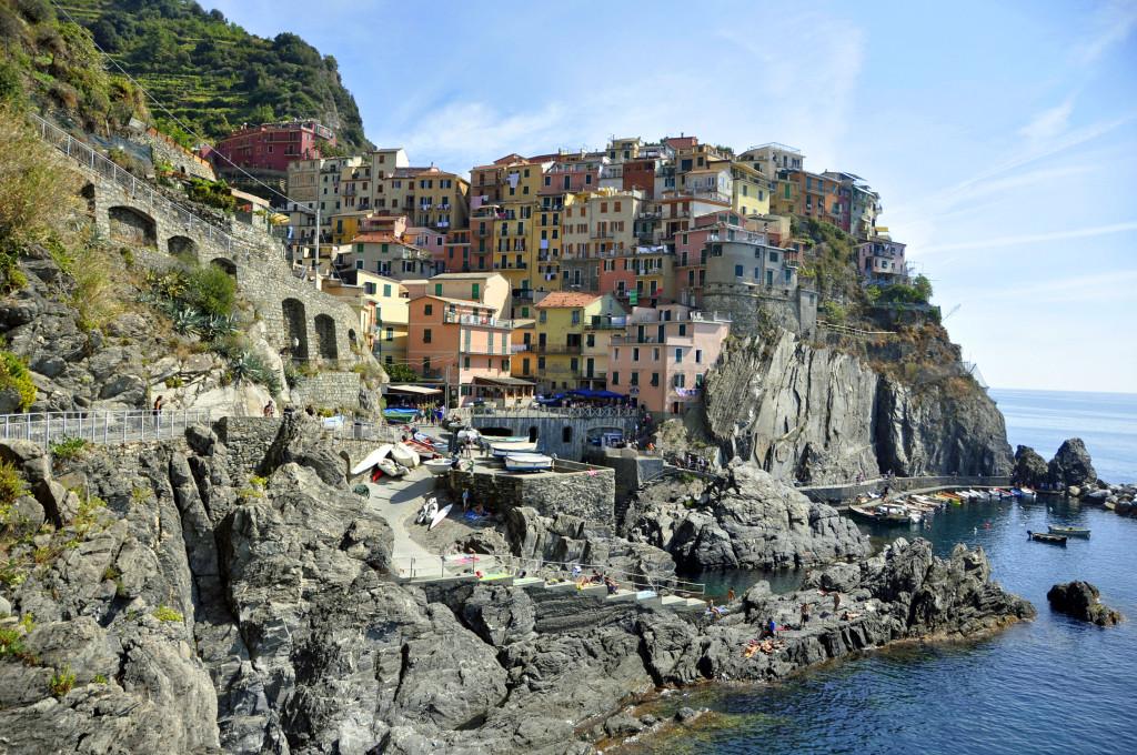 Cinque Terre, the town of Manarola