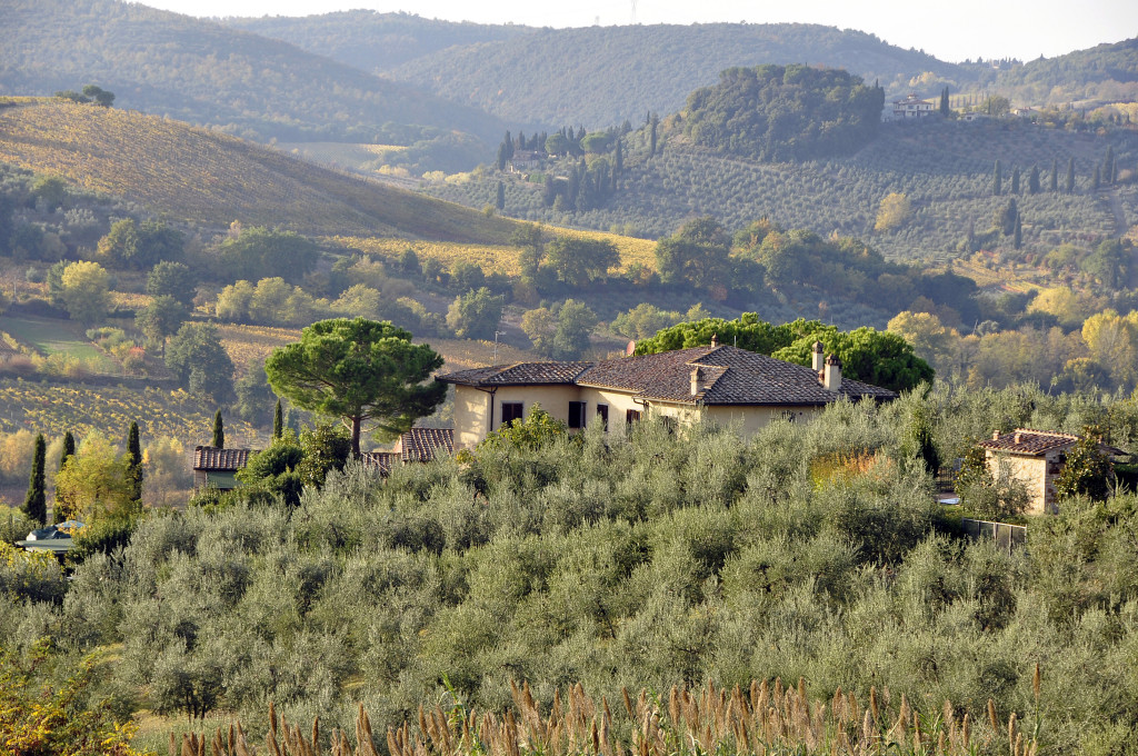 Tuscany in autumn, view from San Gimignano