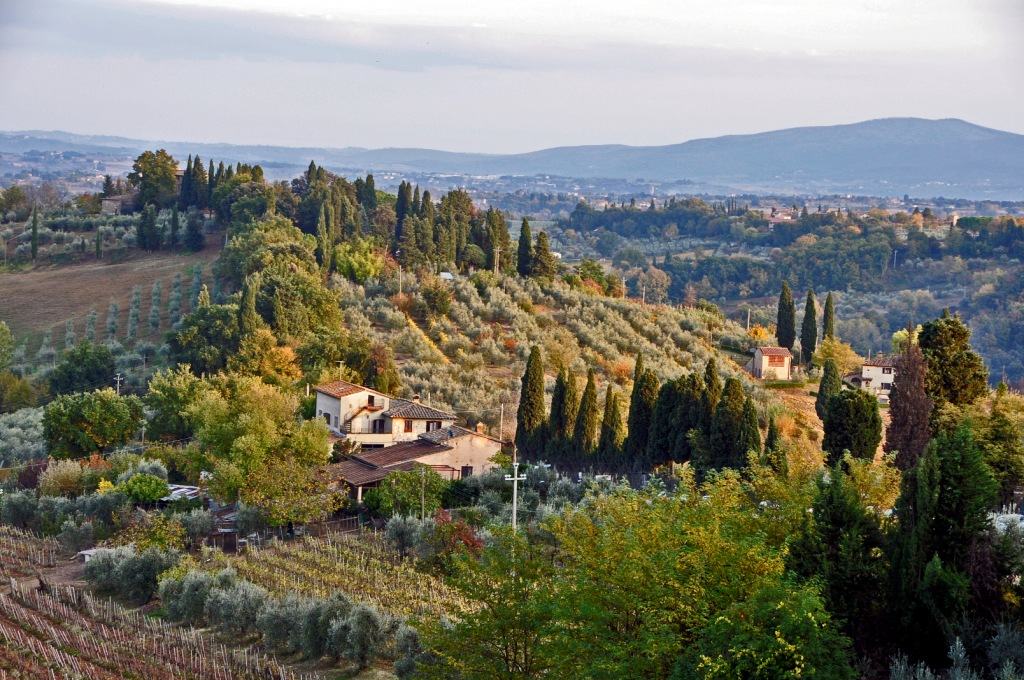 Autumn in Tuscany — a view from San Gimignano
