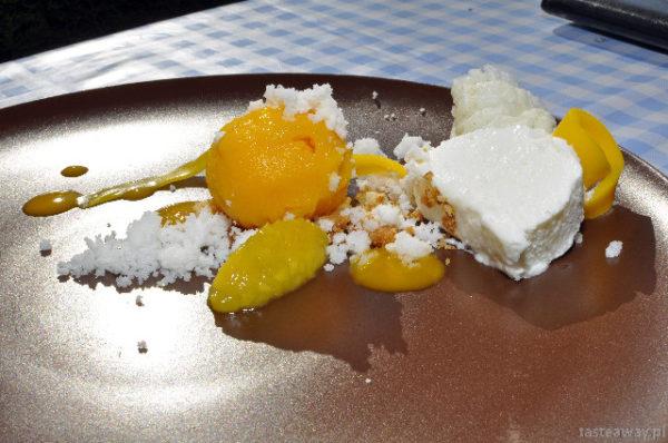 kokosowe parfait, sorbet z mango, Sztuczka, Gdynia