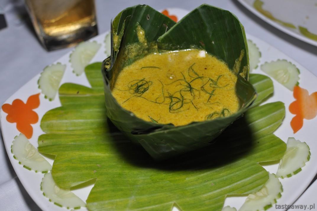 amok , kuchnia Kambodżańska, Kambodża, Phnom Penh, Magnolia