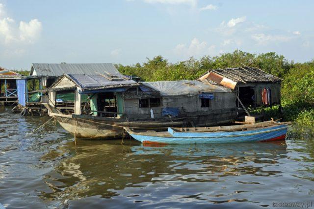 Kambodża, Siem Reap, Tonle Sap, pływające wioski, Chong Kneas