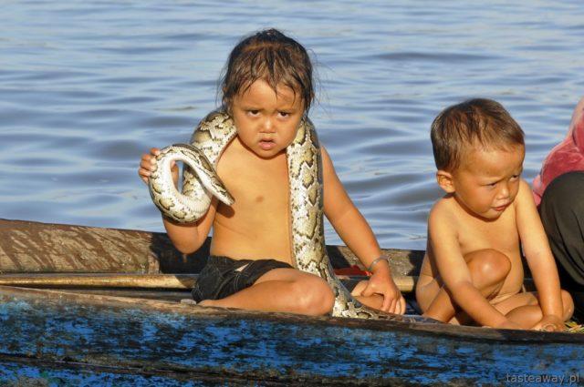 Kambodża, Siem reap, Tonle Sap, Chong Kneas, pływające wioski