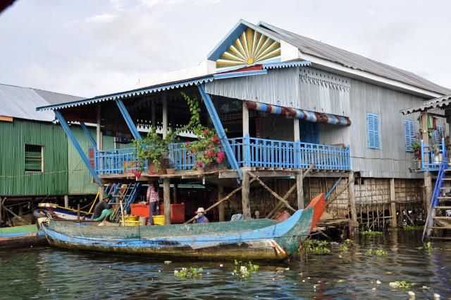 Kambodża, Siem reap, Tonle Sap, Kampong Pluk, pływające wioski