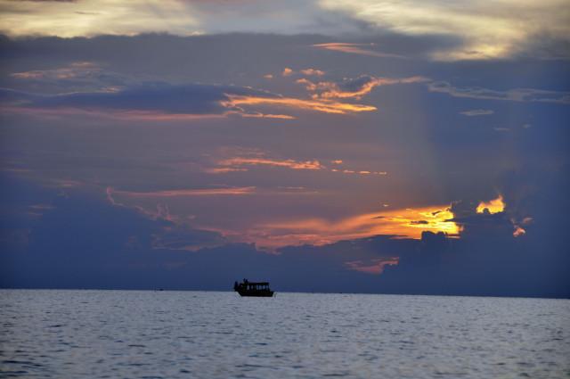 Kambodża, Siem Reap, pływające wioski, Tonle Sap, Kampong Phluk