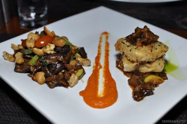 Kambodża, Siem Reap, Aha Restaurant, orzeszki nerkowca, tofu