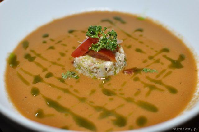 Kambodża, Siem reap, Aha restaurant, krab