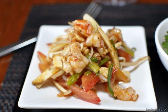 Kambodża, Siem Reap, Aha restaurant, owoce morza,