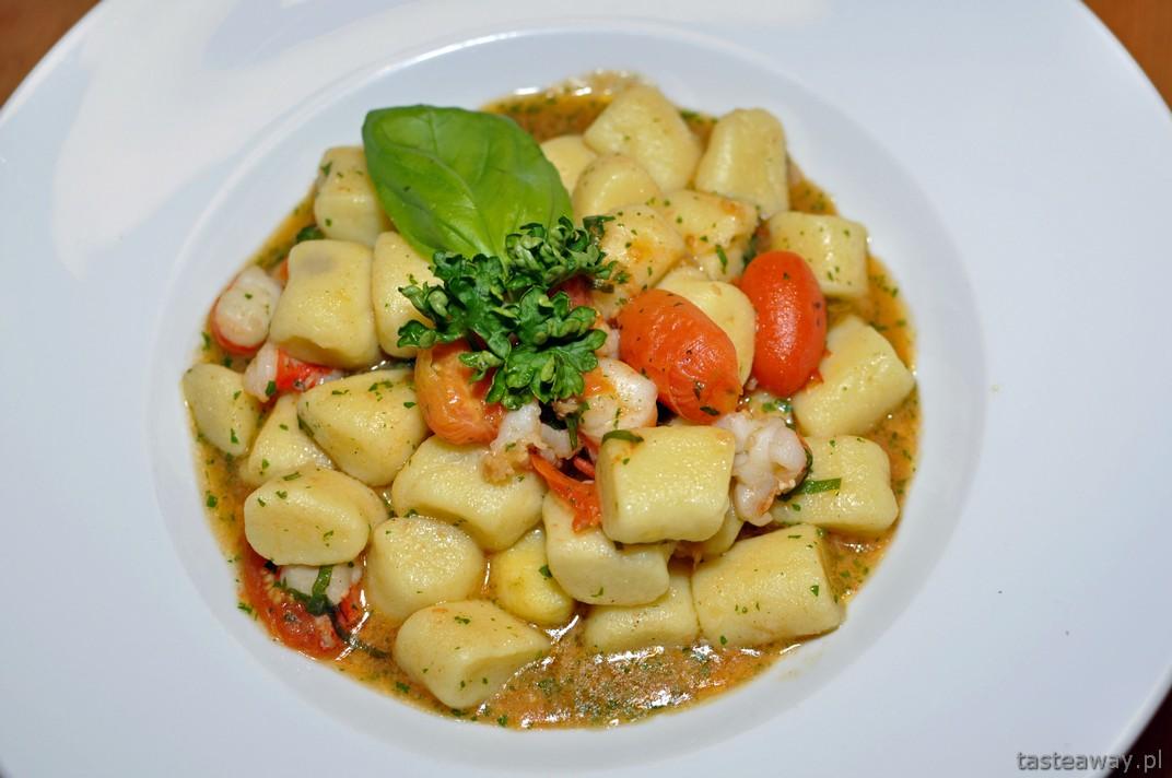 gniocchi z krewetkami i pomidorami, Południowy Tyrol
