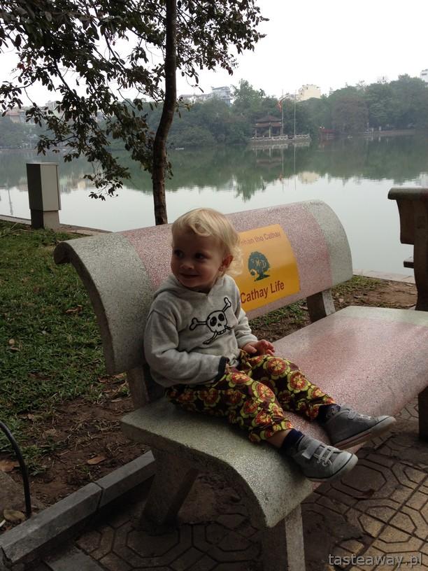Hanoi, jezioro, Wietnam, Pan Pantaloni