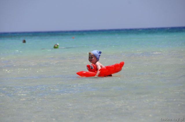 Kreta, Grecja, plaża, woda, dziecko na plaży, najpiękniejsze plaże Europy