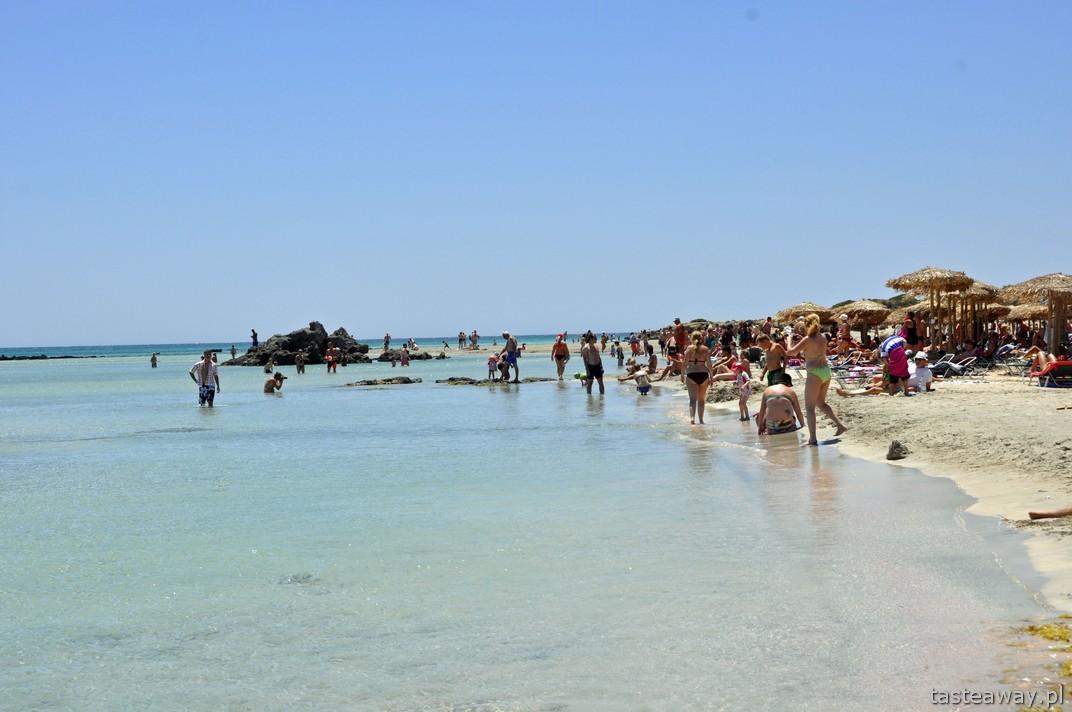 Kreta, Elafonissi, najpiękniejsze plaże Europy, Grecja, różowy piasek
