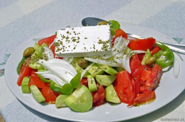 Kreta, Grecja, kuchnia grecka, sałatka grecka, feta