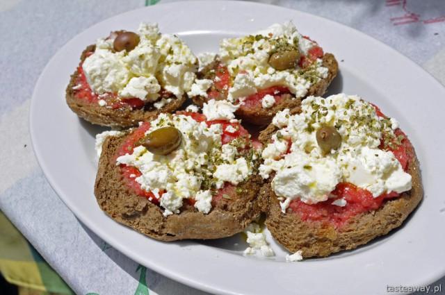 Grecja, Kreta, kuchnia grecka, przystawki, dakos