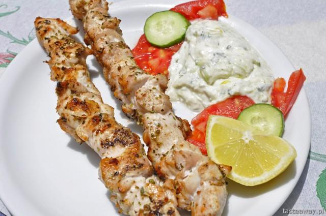 souvlaki, Grecja, Kreta, kuchnia grecka, szaszłyk