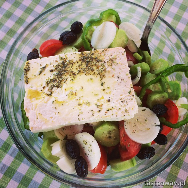 sałatka grecka, Grecja, Kreta, Elafonissi, kuchnia grecka