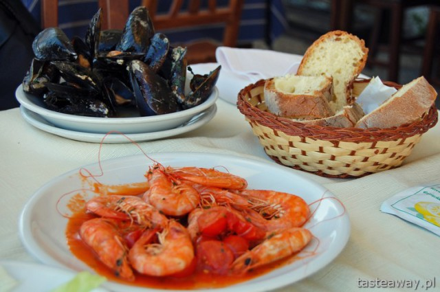 Trani, South Italy, Bari, mussels, shrimps, seafood
