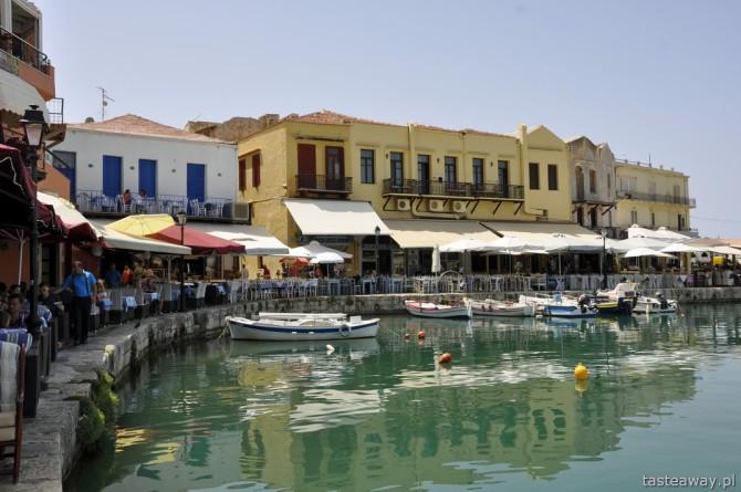 Kreta, wakacje, Rethymnon, port