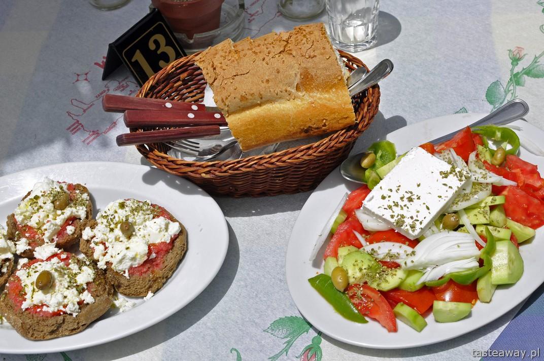 Kreta, kuchnia grecka, dakos, sałatka grecka, feta