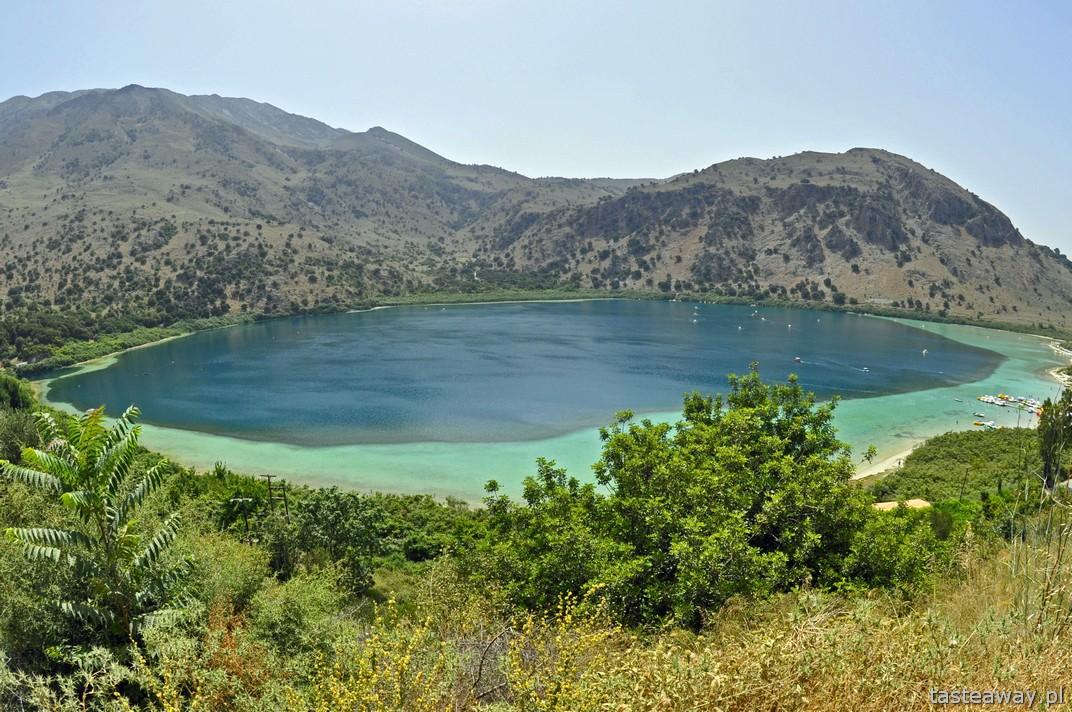 Kournas Lake, Kreta, wakacje na Krecie, podróżowanie po Krecie