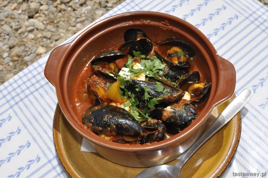 mule, Plakias, Kreta, owoce morza, małże, kuchnia grecka