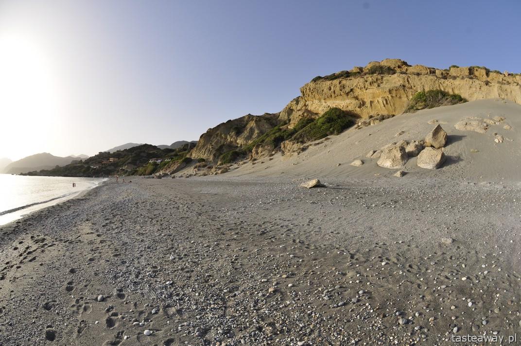 Kreta, dzikie plaże, Ligres Beach, plażowanie