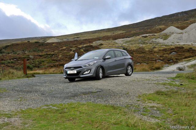 Irlandia, góry Wicklow, wynajem auta, jak wypożyczyć samochód, podróżowanie samochodem