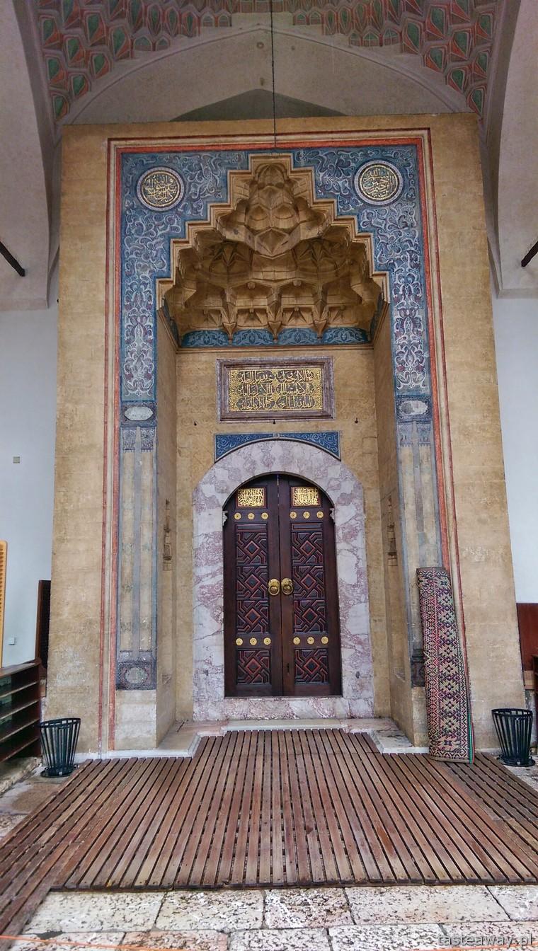 meczet, Gazi Husvre begova dżamija, Sarajewo, Bośnia i Hercegowina