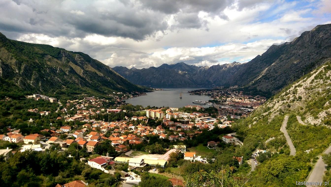 Boka Kotorska, Czarnogóra, Cetynia, najpiękniejsza trasa w Europie