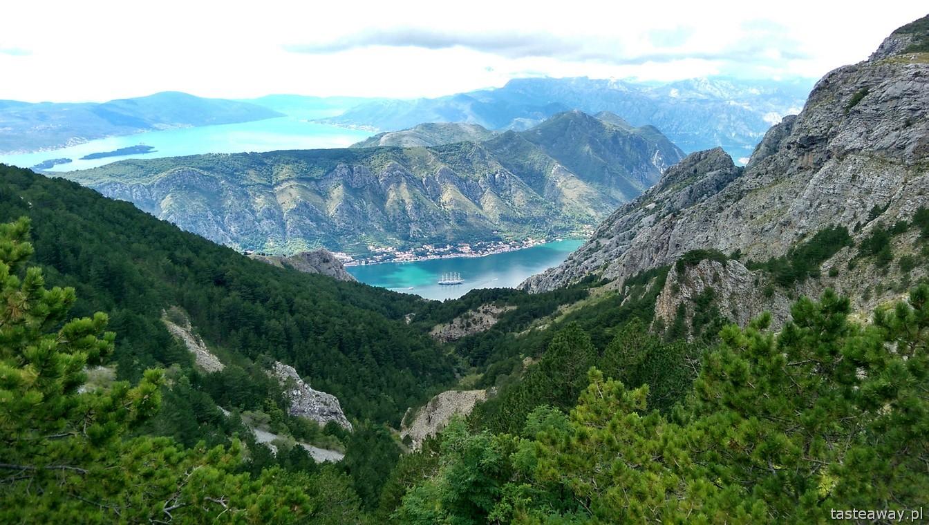 Czarnogóra, trasa Cetynia - Kotor, Boka Kotorska