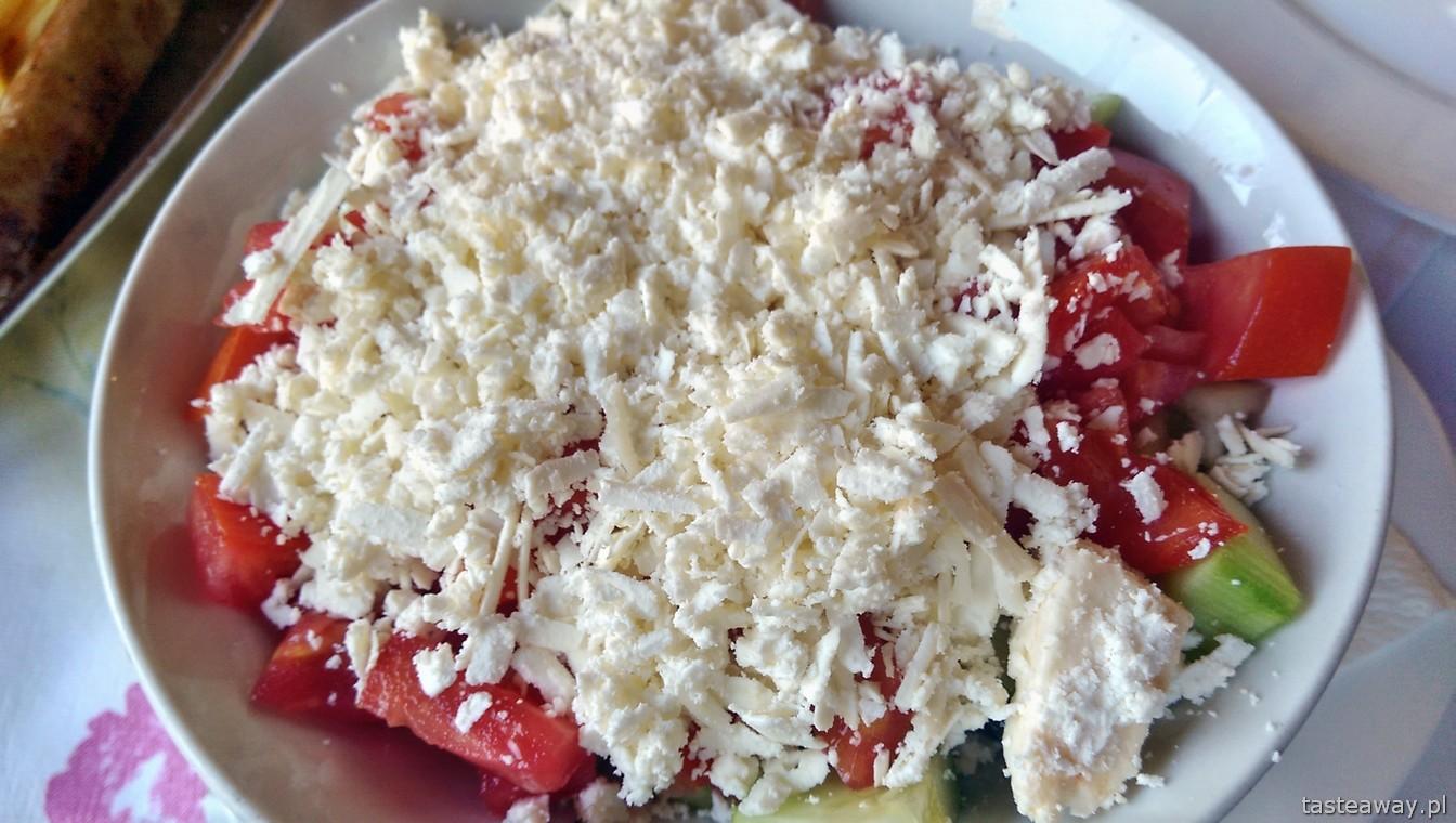sałatka szopska, Bałkany, kuchnia bałkańska, ser