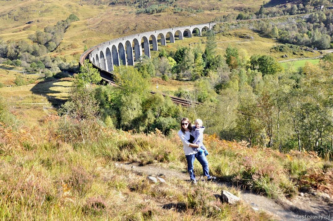 Szkocja, Wielka Brytania, Glenfinnan, trasy kolejowe, wiadukt w Glenfinnan