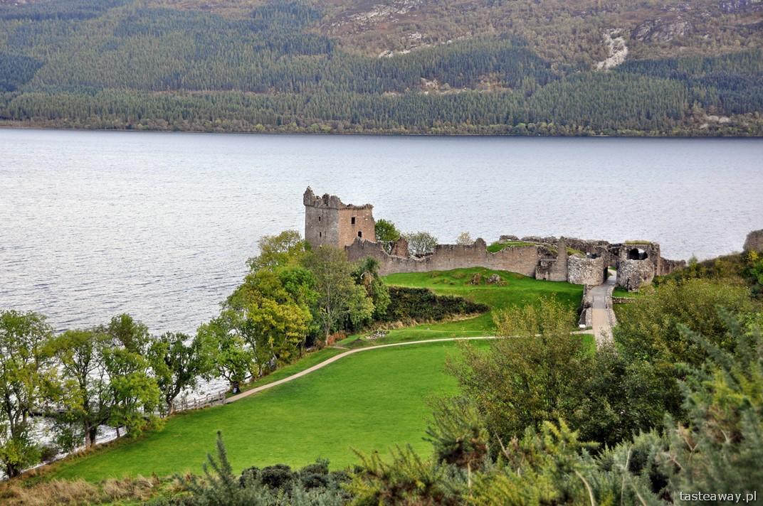 Loch Ness, zamek Urquhart, jezioro, Szkocja, Nessie, potwór z Loch Ness