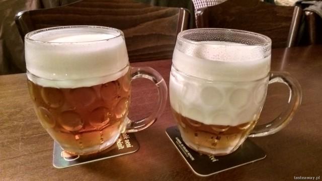 hladinka, mliko, Praga, Lokal, Pilser Urquell, piwo