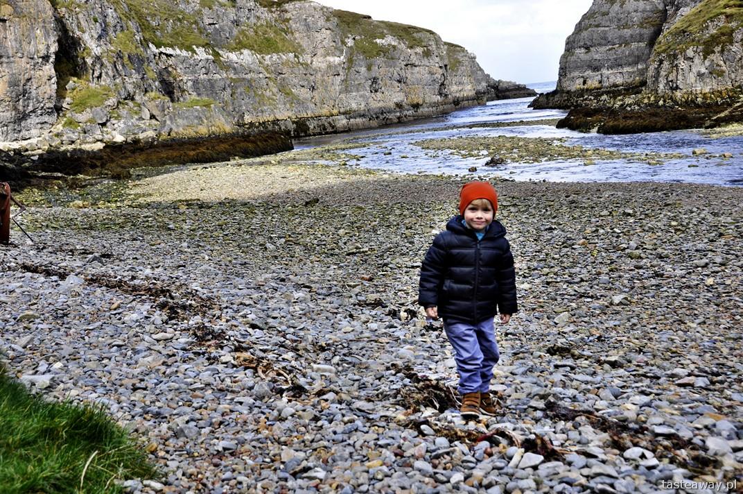 Smoo Cave, Durness, podróżowanie z dzieckiem, Szkocja, północna Szkocja
