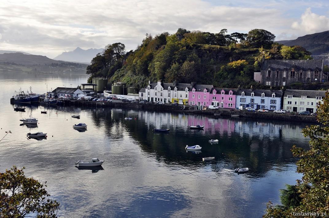 Portree, port, Isle of Skye, Szkocja, szkockie wyspy