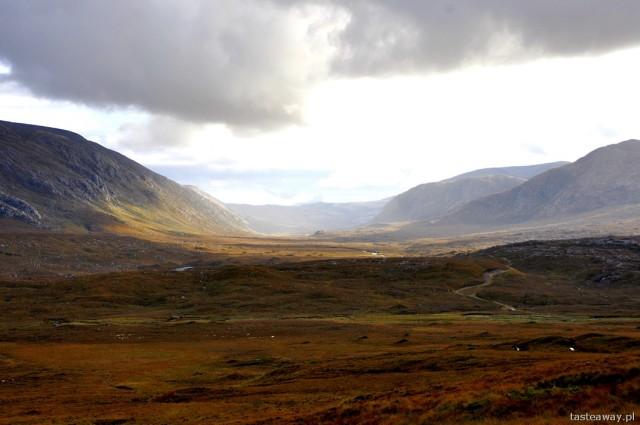 na trasie Durness - Ullapool, Szkocja, północna Szkocja, pustkowie