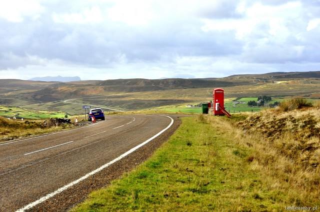 Szkocja, północna Szkocja, budka telefoniczna