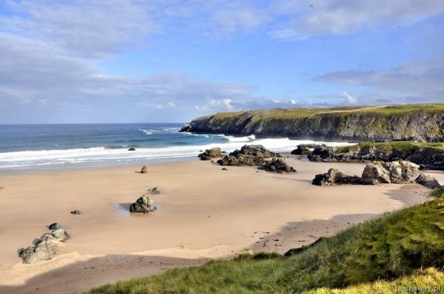 Smoo Cave, Durness, Szkocja, północna Szkocja, szkockie plaże