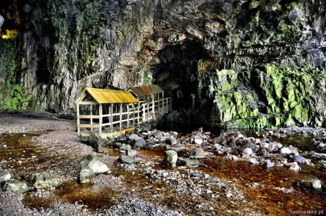 Smoo Cave, Durness, Szkocja, północna Szkocja, jaskinie