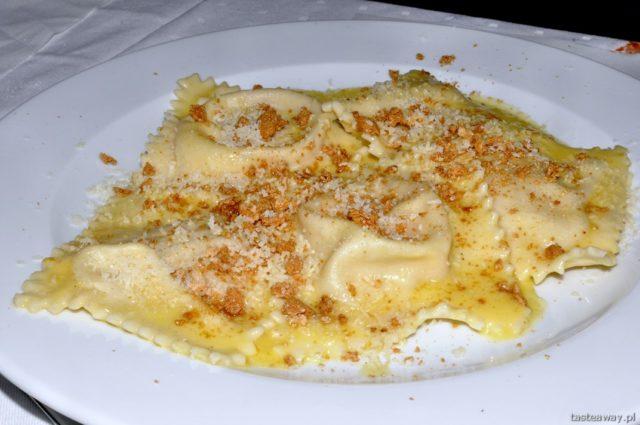 tortelli mantovani, dynia, Le Chalet, Murzasichle, Italian cuisine