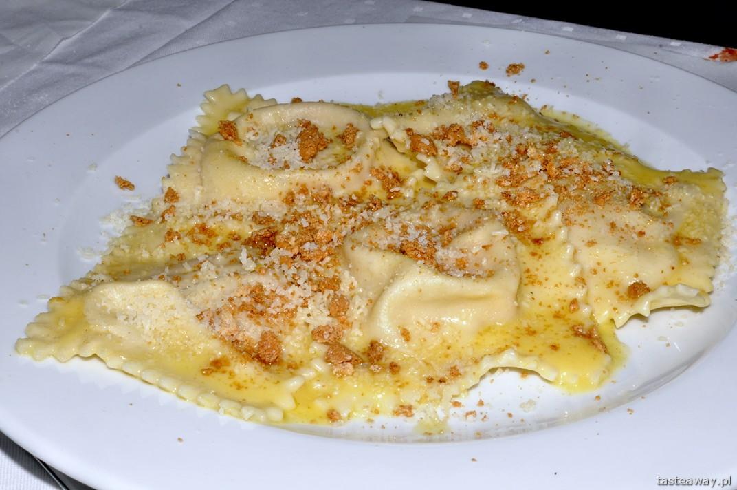 tortelli mantovani, dynia, Le Chalet, Murzasichle, kuchnia włoska