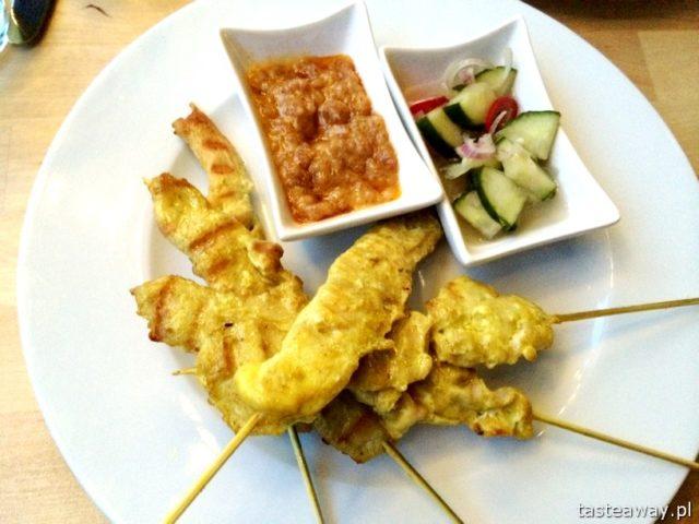 satay z kurczaka, kuchnia tajska, Basil & Lime, restauracje przyjazne dzieciom