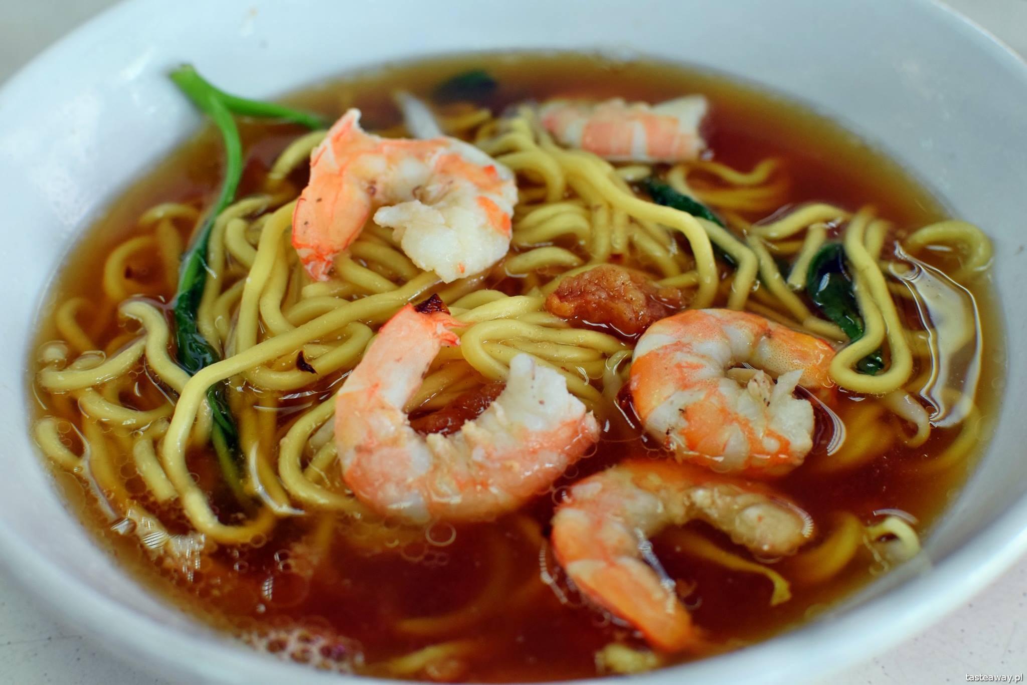 prawn noodles soup, Singapur, kuchnia azjatycka