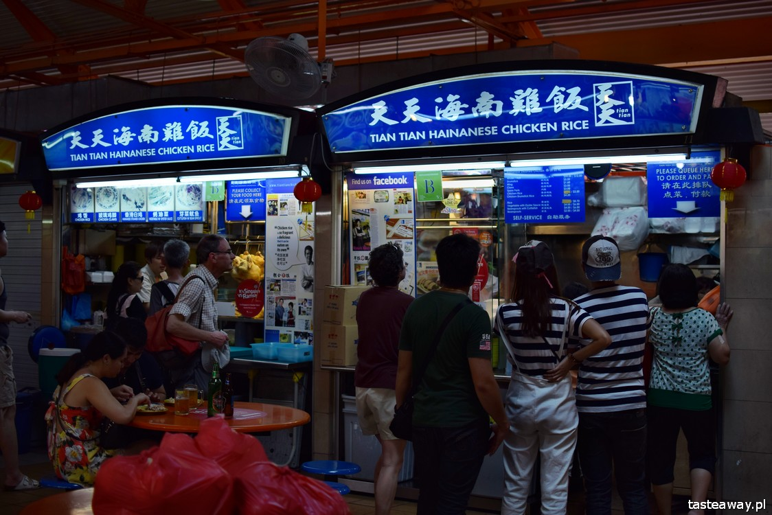 Singapur, co jeść w Singapurze, food courty, Maxwell Food Centre, Hainanese Chicken Rice, Kway Teow, Tian Tian