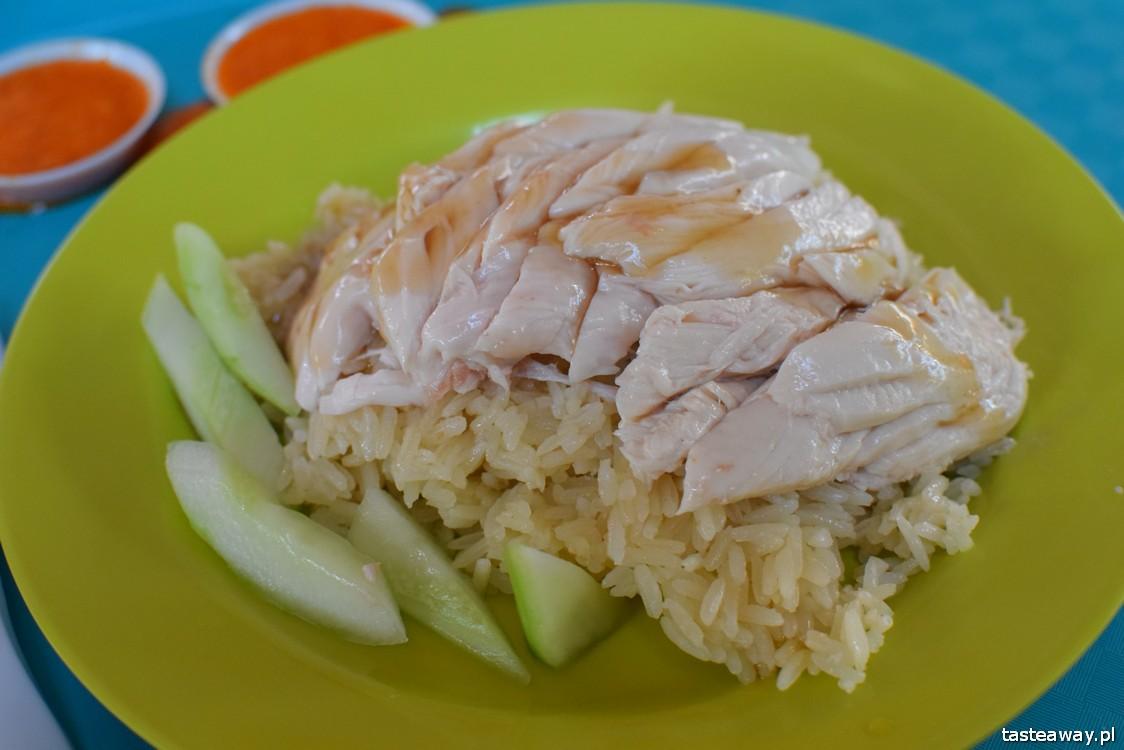 Singapur, co jeść w Singapurze, food courty, Maxwell Food Centre, Hainanese Chicken Rice