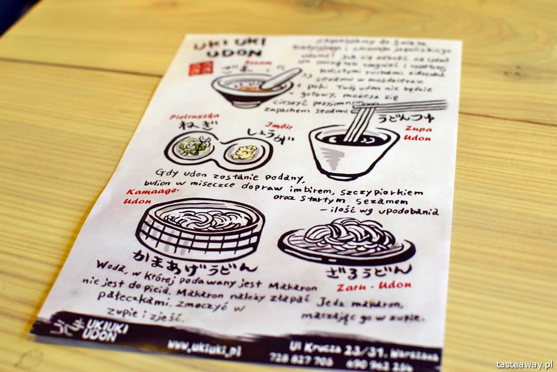 Uki Uki, udon, kuchnia japońska, Warszawa