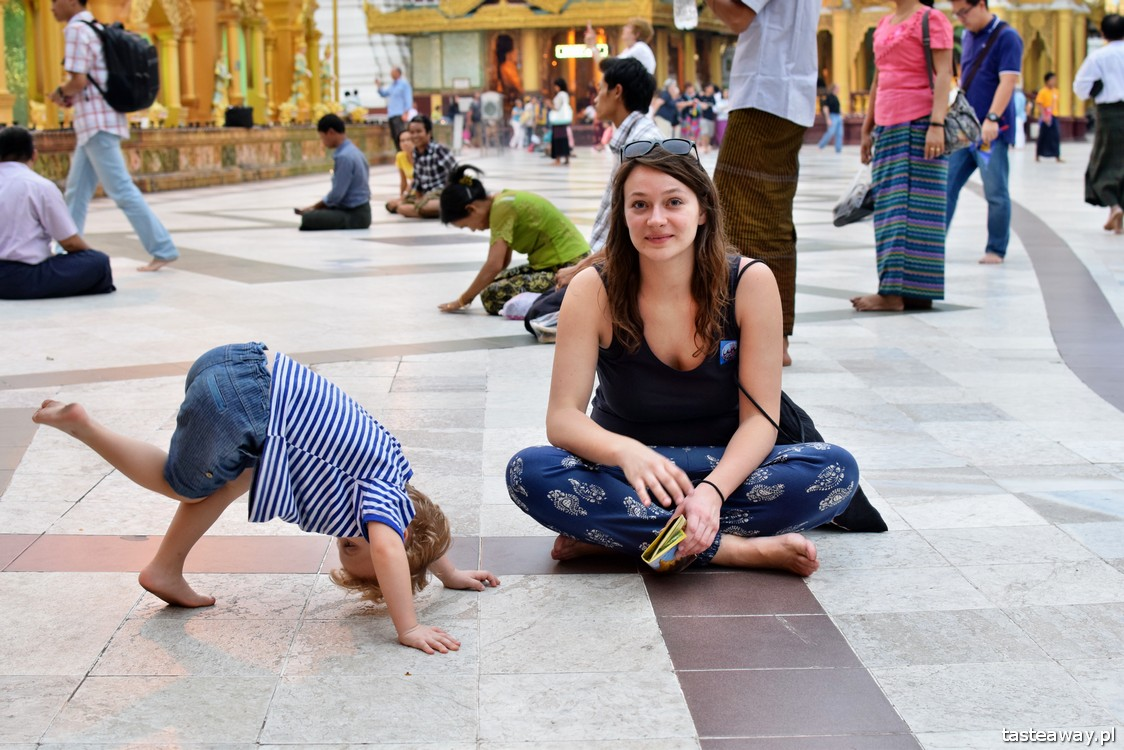 Birma, Rangun, podróżowanie z dzieckiem
